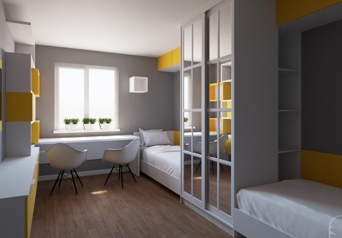 Комплект мебели для детской комнаты Флоу фото