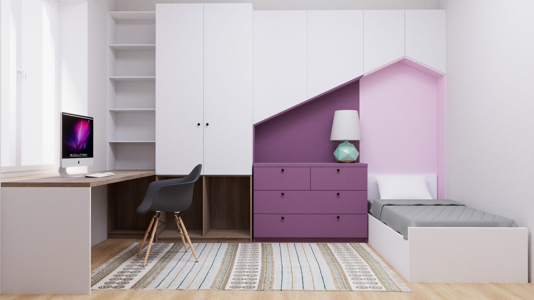 Комплект мебели для детской комнаты Хайлин фото