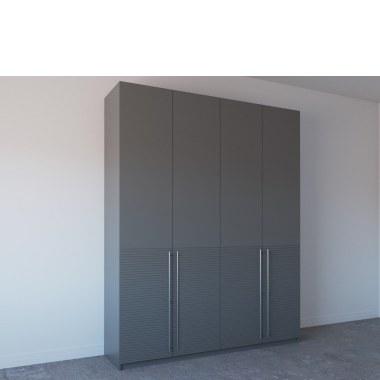 Шкаф темного цвета с фрезеровкой фото
