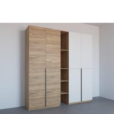 Двухцветный шкаф распашной Лауриц