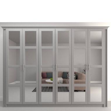 Большой шкаф с зеркальными дверями Асти (фото)