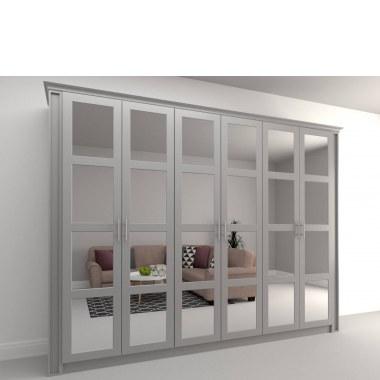 Распашной шкаф с зеркальными дверями Асти