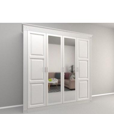 Белый распашной шкаф Люцик фото