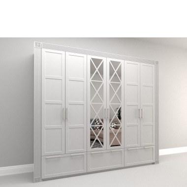 Белый распашной шкаф Оледжио фото