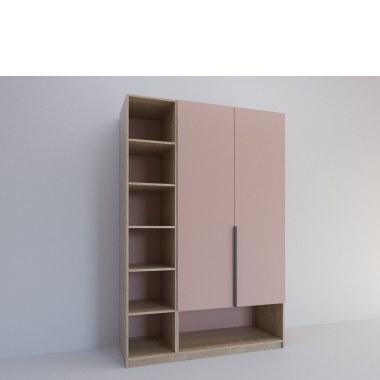 шкаф Дабл в розовом цвете от фабрики Владмебстрой
