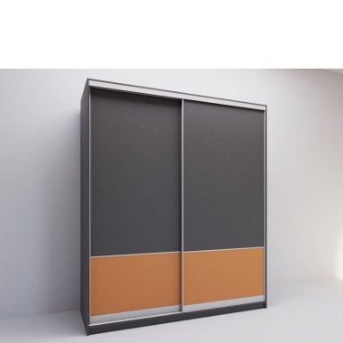 Модный шкаф-купе Коралл вид сбоку