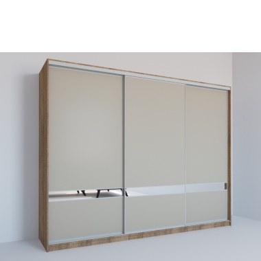 Шкаф-купе Мираж с зеркальной полосой фото
