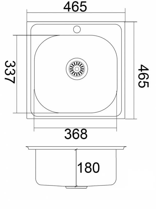 Мойка EMAR 130А Глянец схема