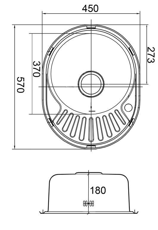 Мойка EMAR 5745 Матовая (электролиз) схема