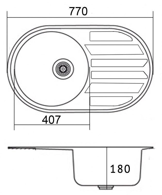 Мойка EMAR 7750 Глянец схема