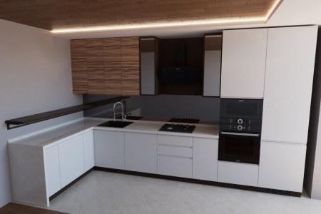Кухня Файн угловая с подсветкой фото