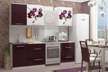 Кухня Фукси с цветами фото
