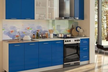 Кухня Интер Синий фото