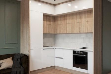 Небольшая угловая кухня Оксид фото