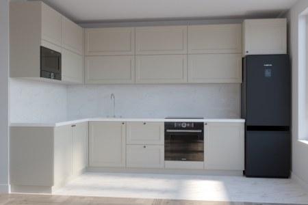 Кухня со столешницей из искусственного камня фото