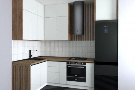 Угловая кухня Вайт фото