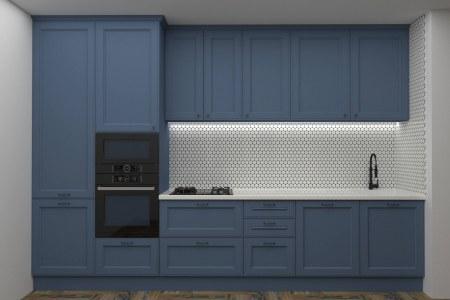 Кухня Деним с подсветкой фото
