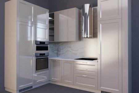 Кухня с эмалированным фасадом Стар фото
