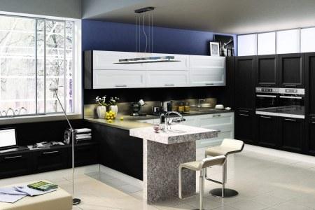 Кухня из массива ясеня Альба фото
