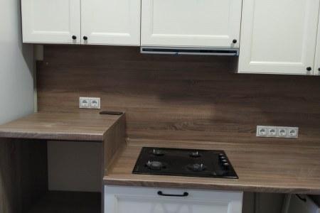Эмалированные фасады для кухни с фрезеровкой фото