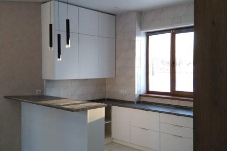 Белая кухня угловая в современном стиле фото