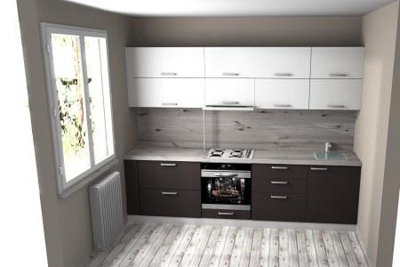 Дизайн проект кухни с подсветкой фото
