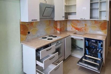 Кухня в стиле Модерн с открытыми ящиками фото
