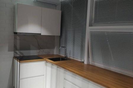 Хайтек кухня из ЛДСП NODRECO фото