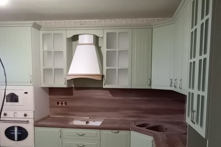 Кухня с фрезеровкой Кантри фото