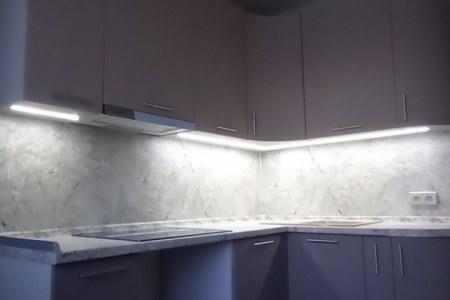 Кухня на заказ с подсветкой во Владимире фото