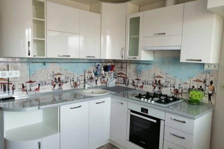 Светлая угловая кухня Франц (от Владмебстрой) фото