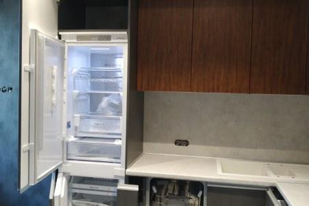 Современная кухня в сером цвете фото
