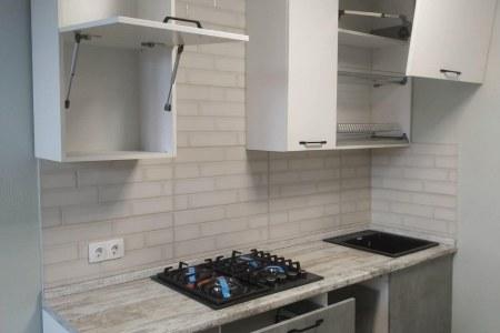 Кухня в ЖК Добросельский (открытые ящики) фото