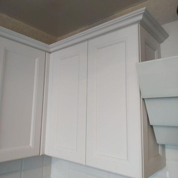 Шкафы кухни без ручек фото