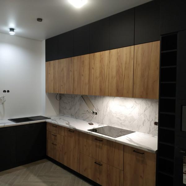 Кухня с фасадом из МДФ и ЛДСП